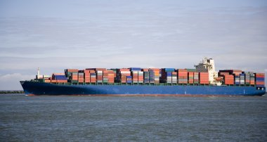 Container ship at the Port of Rotterdam