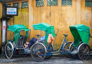 Cyclo's in Hoi An, Vietnam