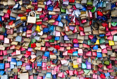 Thousands of love locks