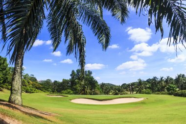 Scenic golf course near Pattaya thailand