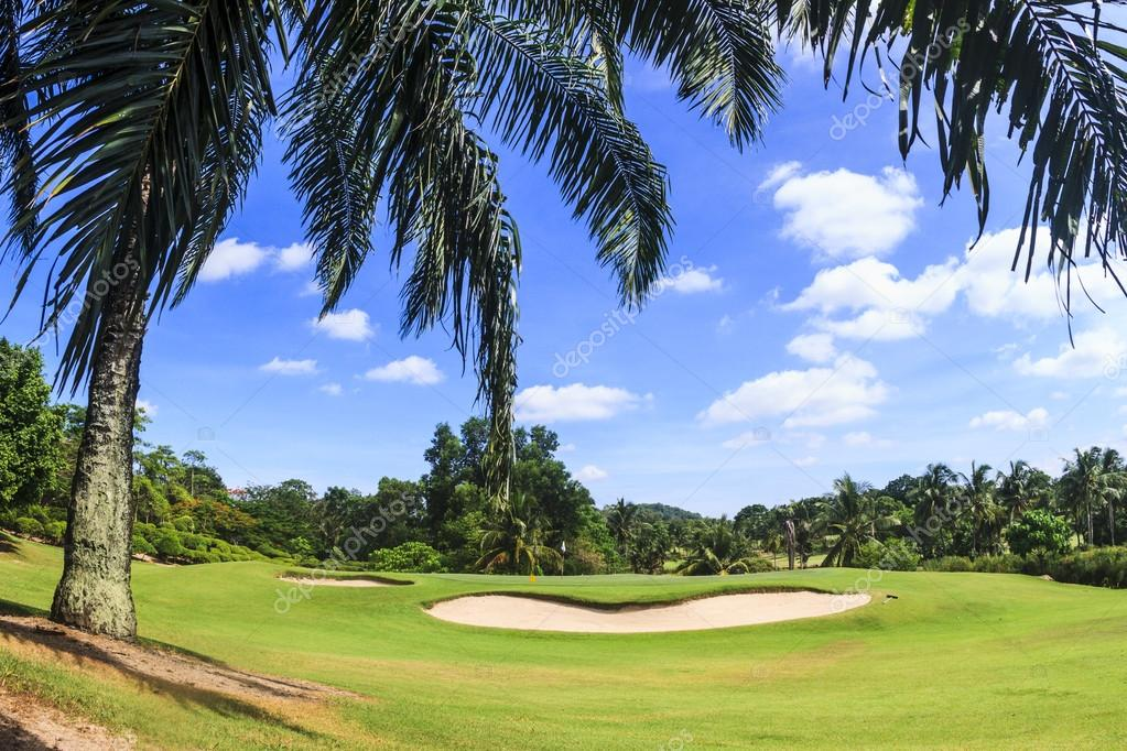 Scenic golf course near Pattaya thailand