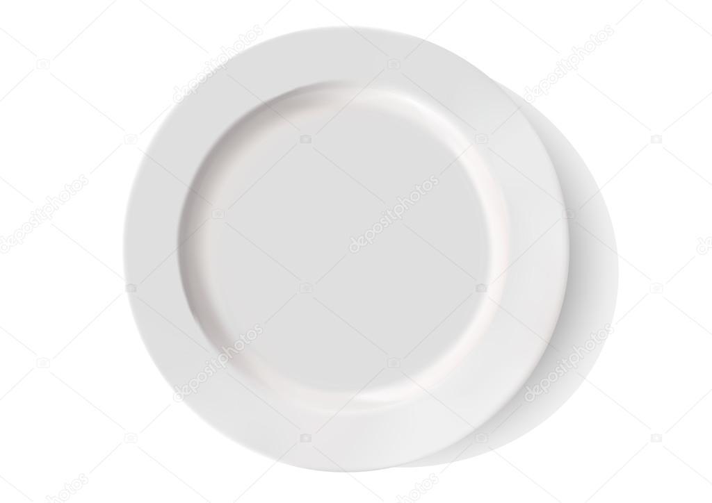 Fondo plato blanco sin plato de porcelana blanca sobre for Platos porcelana blanca