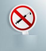 Zeichen für das Verbot von Drogen