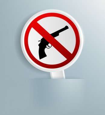 sign indicating the prohibition of weapons