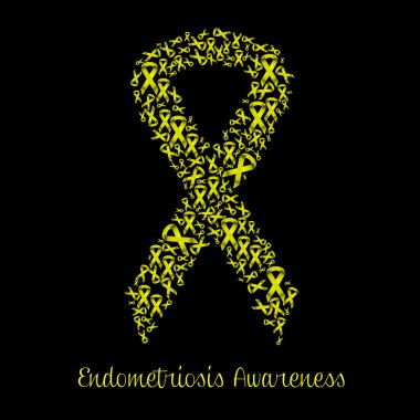 Yellow ribbon for endometriosis awareness