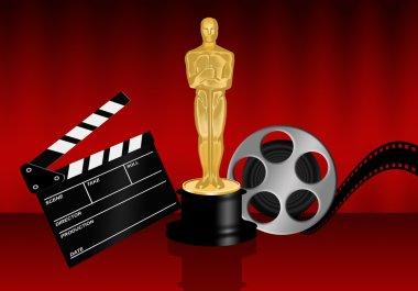 Oscar statuette Illustration