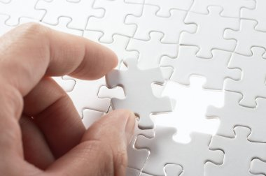 A person matching the last puzzle pieces.