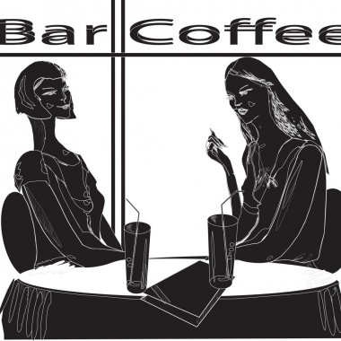 two girls in restaurant