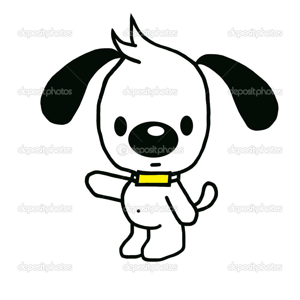 Kresleny Funny Pes S Modre Tricko Stock Fotografie C Pingphuket