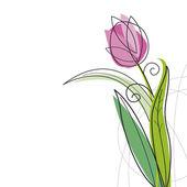 Tulipános stílusú fehér háttér