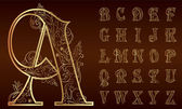 ročník květinové abeceda sada