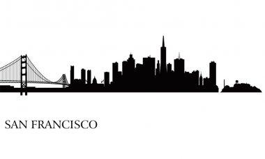 San Francisco city skyline silhouette background. Vector illustration stock vector