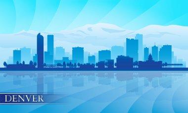 Denver city skyline silhouette background