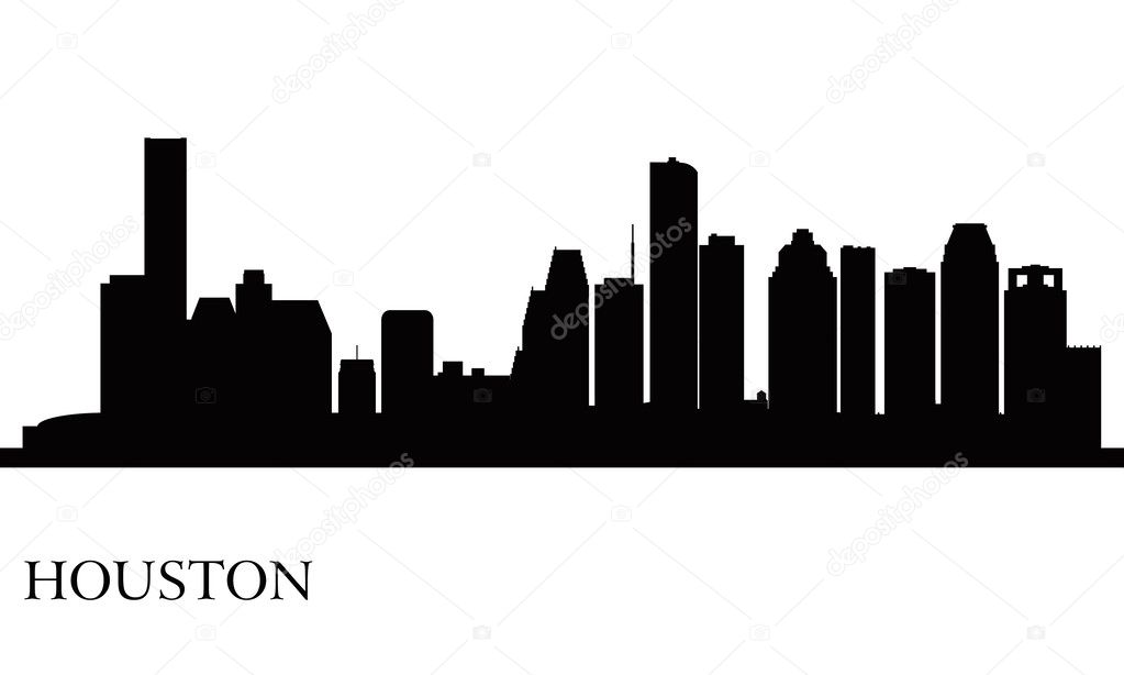 Houston city skyline silhouette background — Stock Vector
