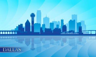 Dallas city skyline silhouette background