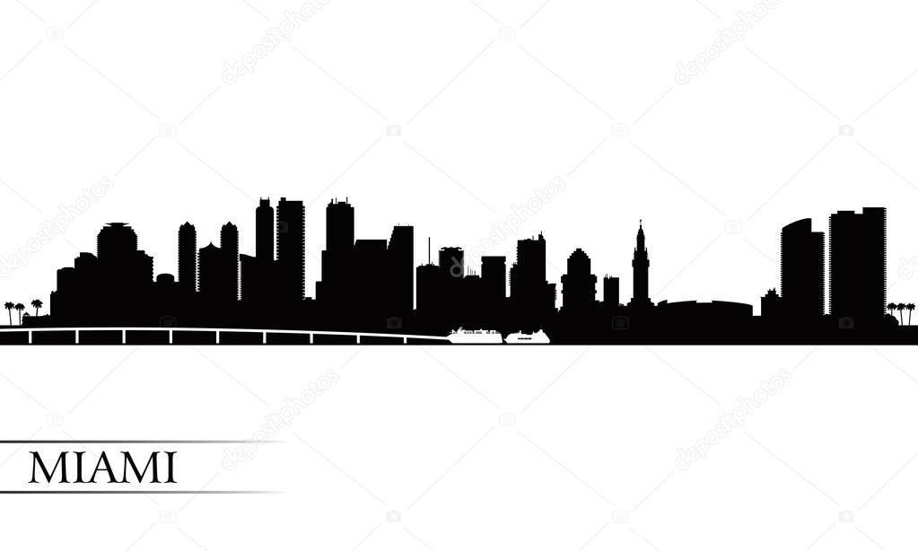 miami city skyline silhouette background  u2014 stock vector  u00a9 ray of light  41973327