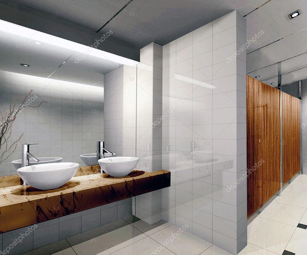 3d public bathroom — Stock Photo © wxin67 #19488441