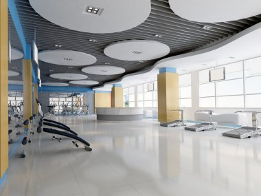 3d indoor gymnasium