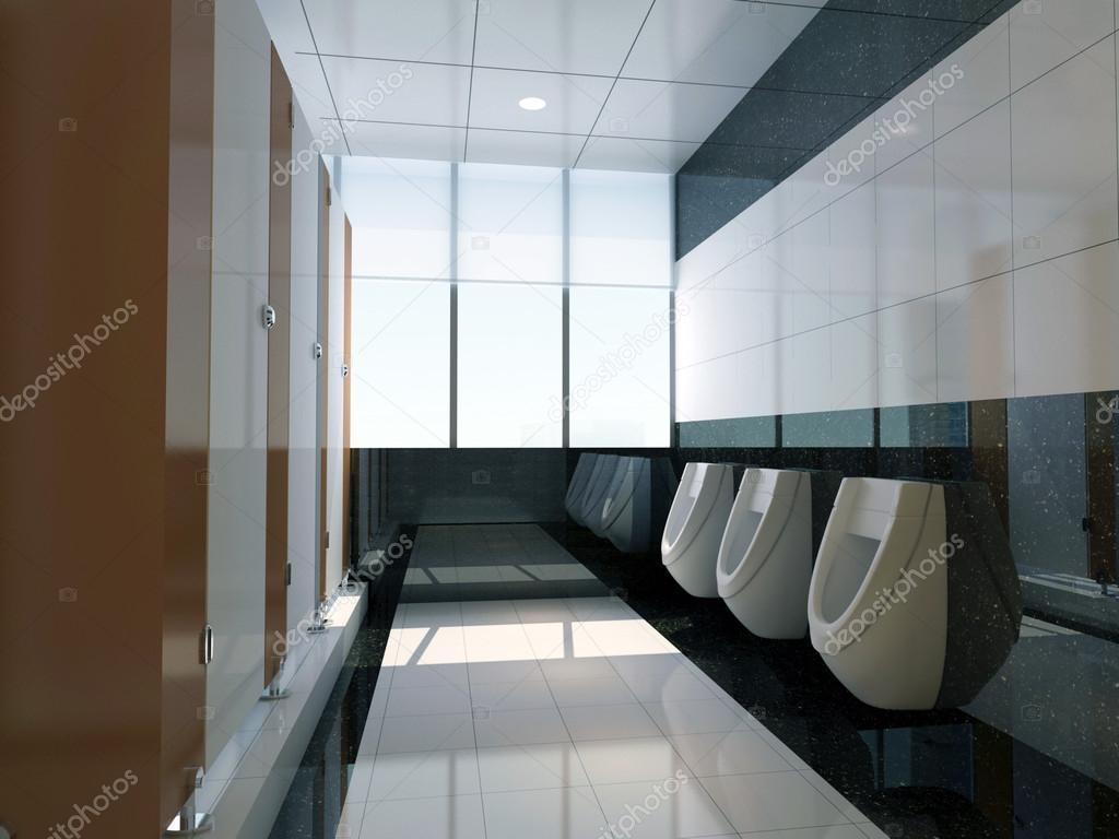 3d Public Bathroom Stock Photo