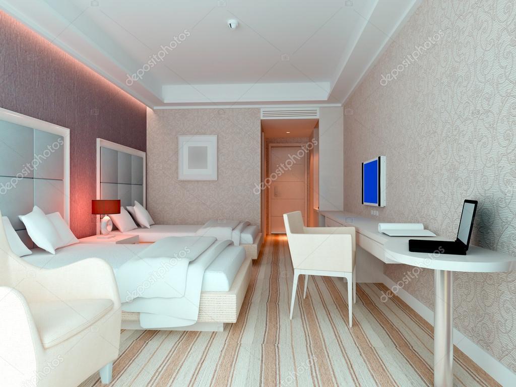 3d yatak odas render otel odalar stok foto wxin67 for Simulador de habitaciones 3d online