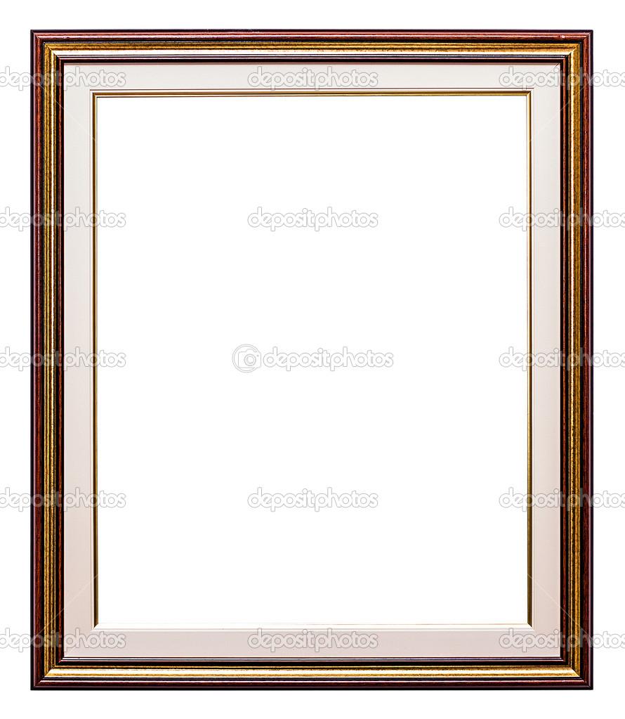 Old retro frame, isolated on white — Stock Photo © lambroskazan ...