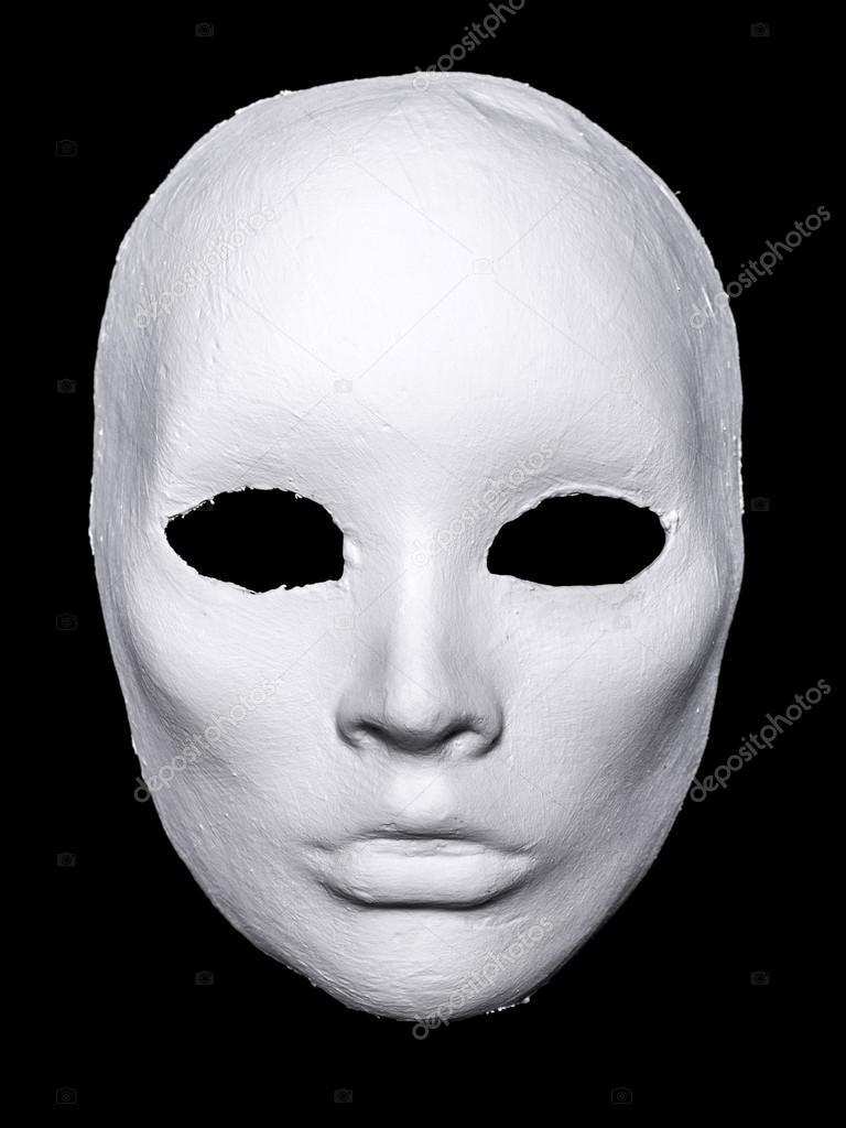 White Hand Made Mask