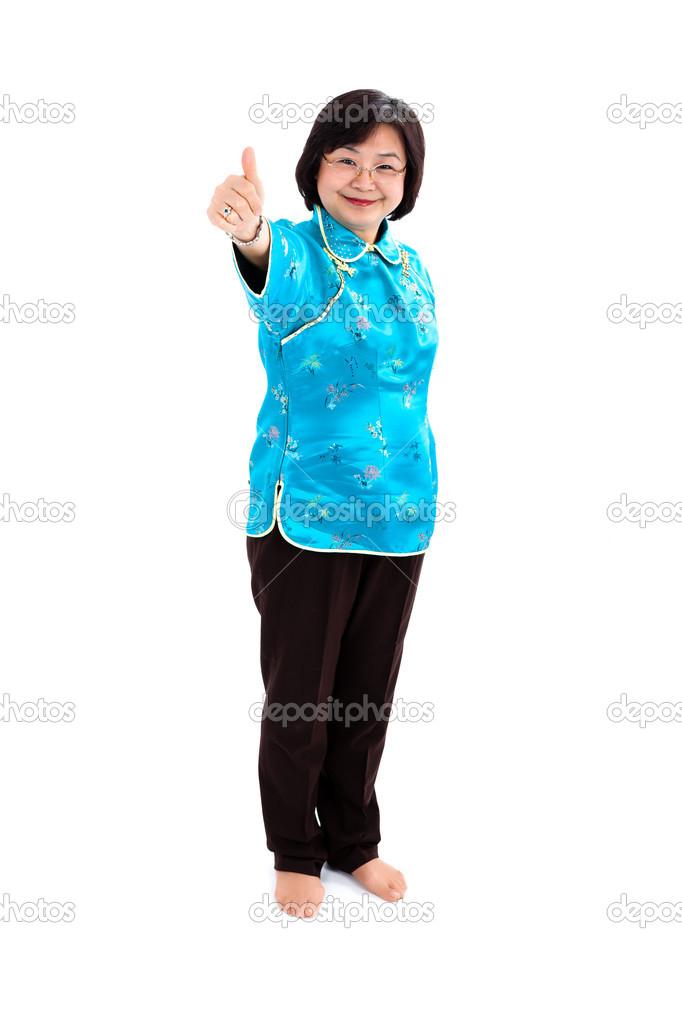girl thumbs Chinese