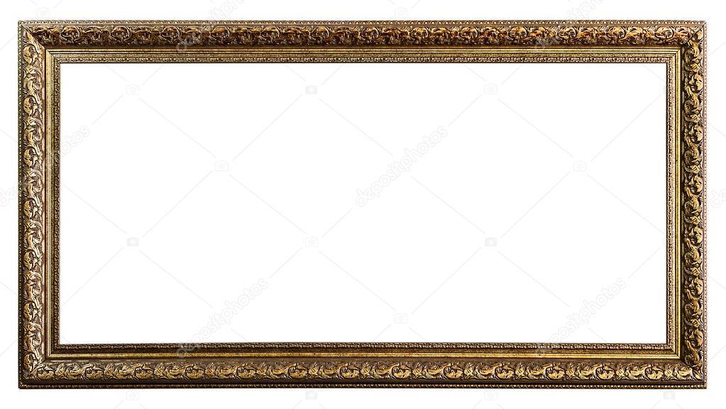 Golden Old Frame, Isolated on White, — Stock Photo © lambroskazan ...