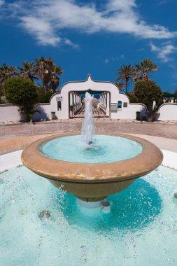 Fountain at luxury Summer resort, Kallithea, Rhodes island