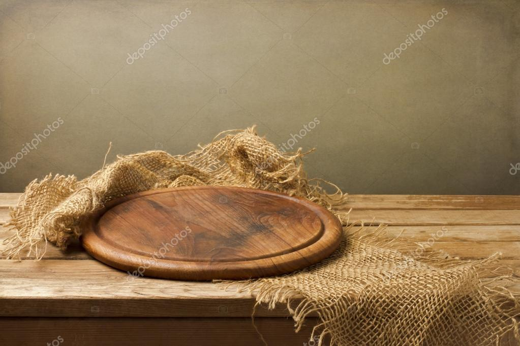 Background with wooden board
