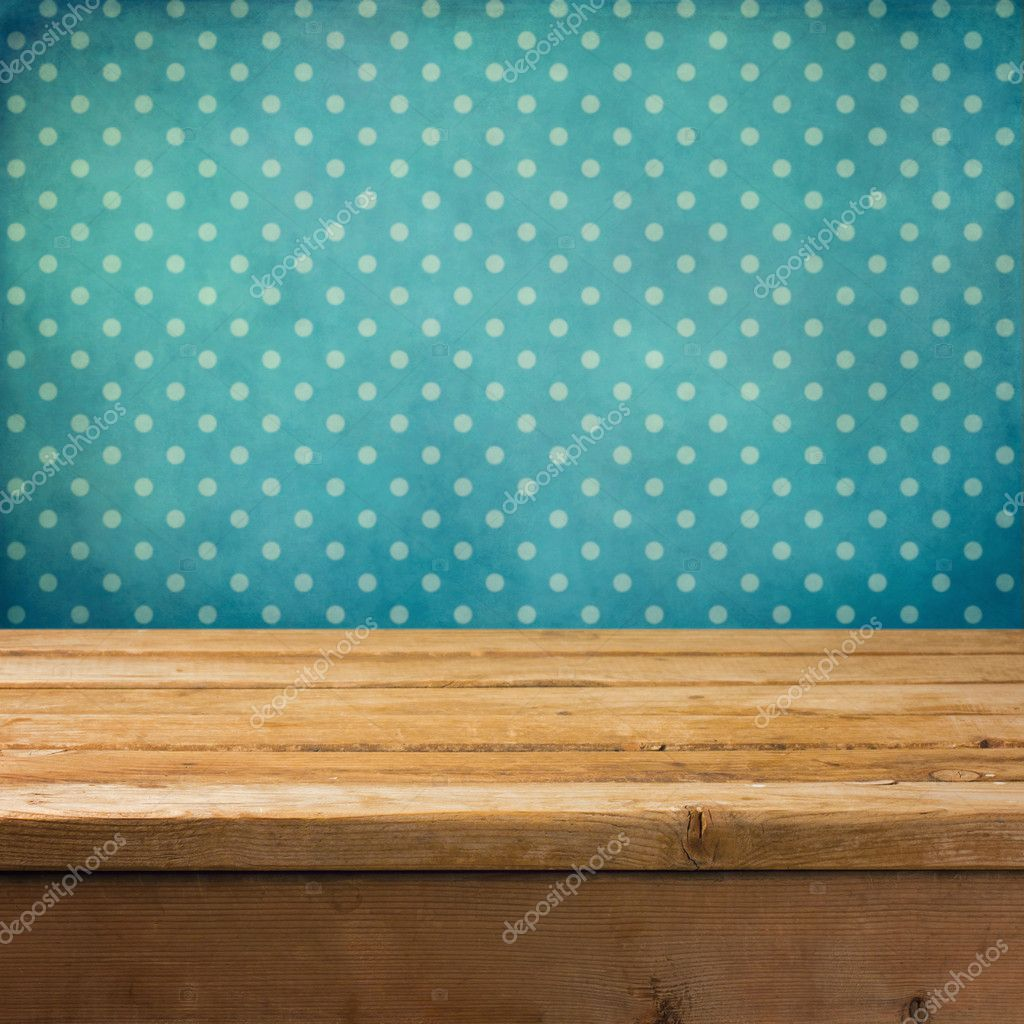 Background with wooden deck table
