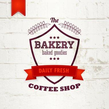 Bakery vintage logo label or badge design