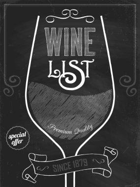 Wine list design layout