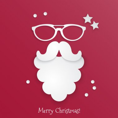 Hipster style Christmas card