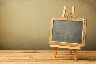 Chalkboard on wooden easel