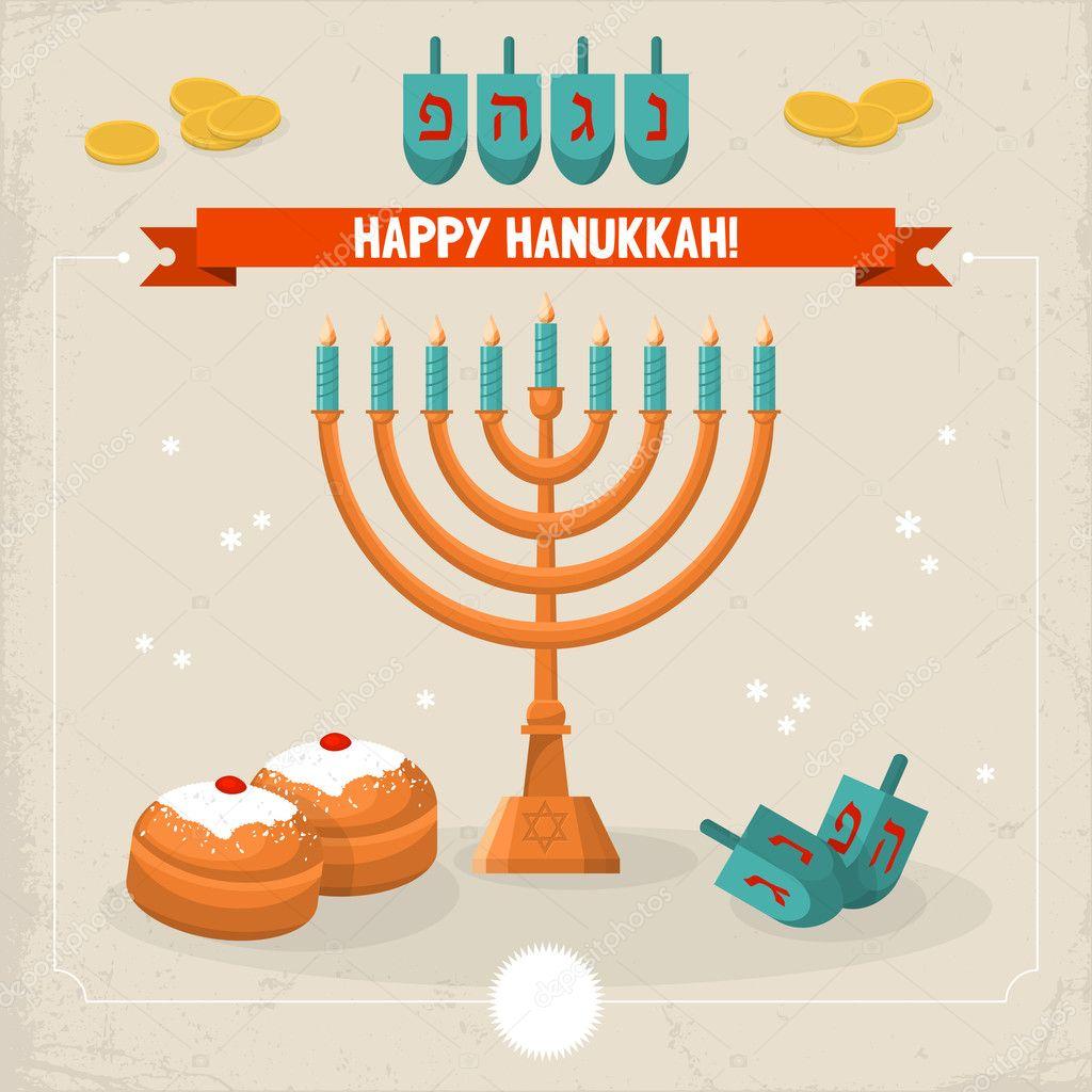Happy hanukkah greeting card stock vector maglara 32788117 happy hanukkah greeting card stock vector m4hsunfo