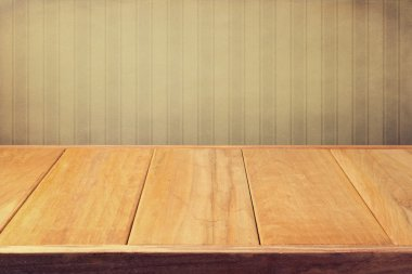 Vintage empty wooden table
