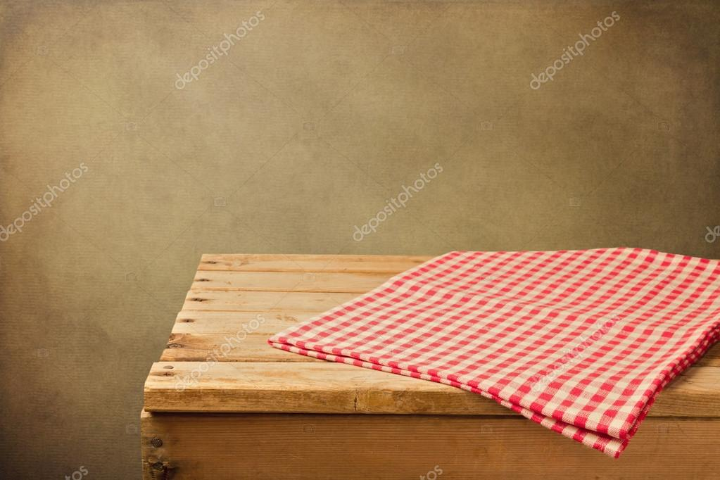 Vintage background with wooden table