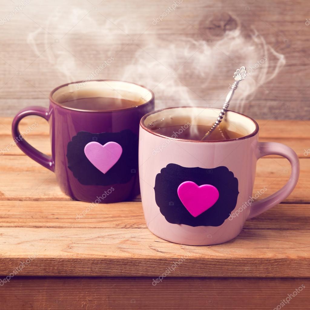 tasse de th avec les stickers ardoise photographie maglara 39497989. Black Bedroom Furniture Sets. Home Design Ideas