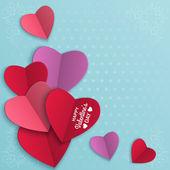 Fotografie Valentinstag Hintergrund mit Papierherzen