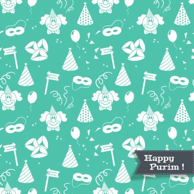 Seamless pattern for Jewish holiday purim