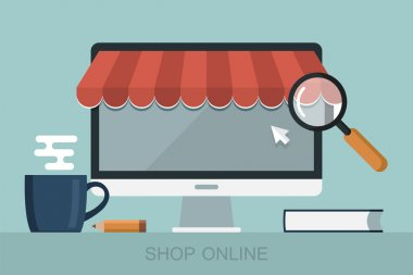 Concept of online shopping web store