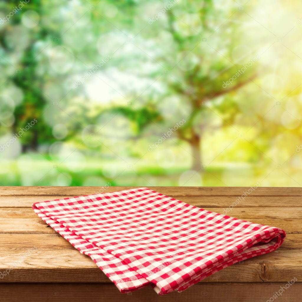 Nature background with table