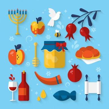 Icons for Jewish new year holiday