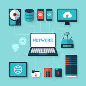 Fotografie Illustration des Computer-Netzwerk-Konzept