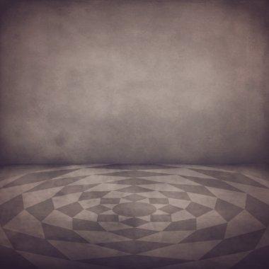 Grunge background of vintage interior