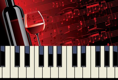 piano melody and wine