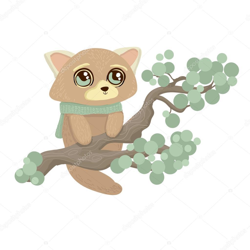 木登りキツネザルのイラスト ストックベクター Dikaya 30554783