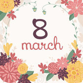 Greeting 8 March card