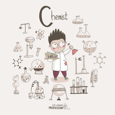 Cartoon chemist